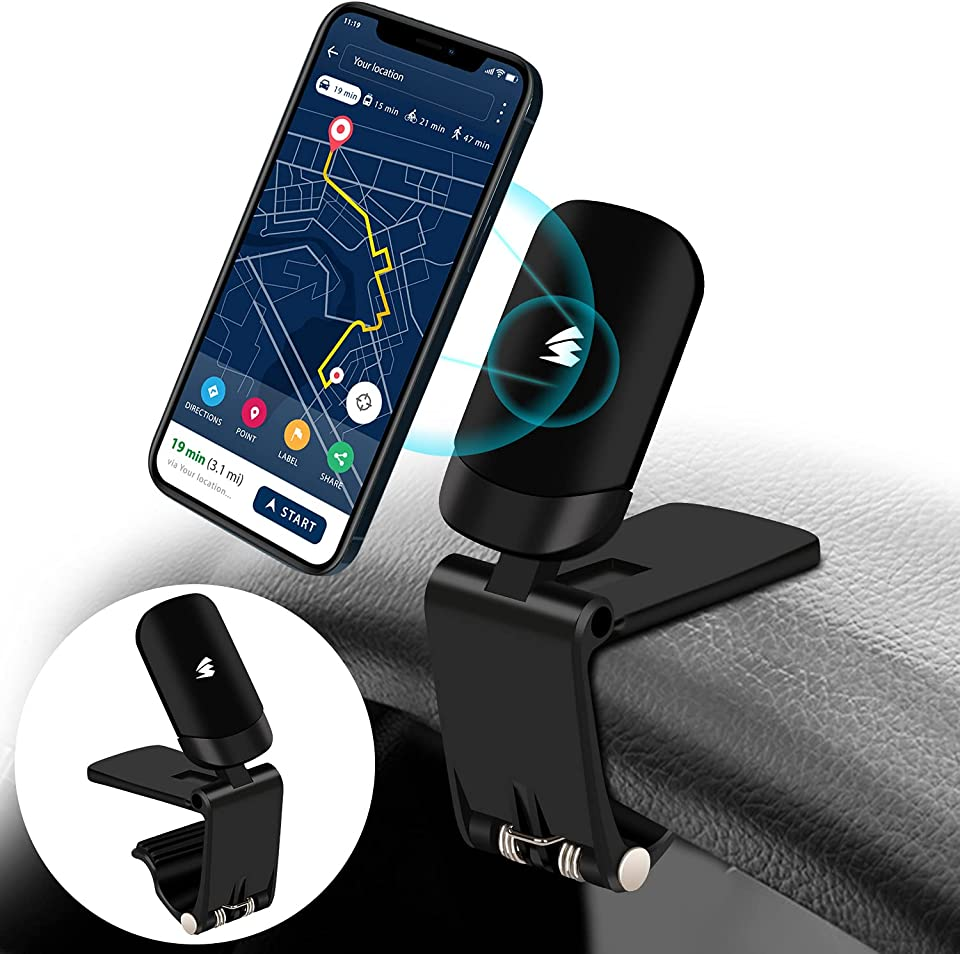 Cell Phone Holder for Car,AONBYS Upgraded Magnetic Phone Car Mount, 360 Rotation Car Phone Holder for Dashboard Cell Phone Mount Cradle Compatible with iPhone, Samsung, Moto, Huawei, LG, Smartphones