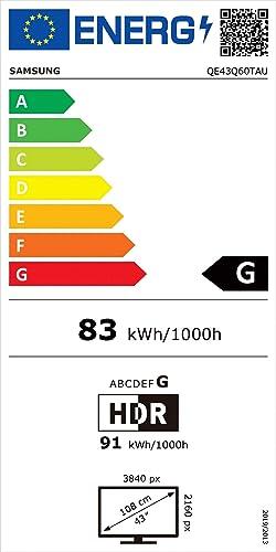 Etiqueta de eficiencia energética  Samsung 43Q60T