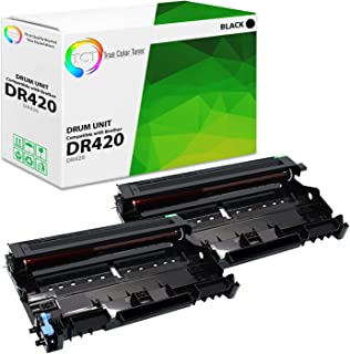 TCT Premium Compatible Drum Unit Replacement for Brother DR-420 DR420 Black works with Brother HL-2220 2250DN 2280DW, MFC-7360 7460DN 7860DW, DCP-7065DN 7070DW 7070DWR Printers (12,000 Pages) - 2 Pack