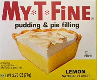 Lemon Pudding and Pie Filling Mix By My T Fine - 2.75 Ounce Box - 2 Box Pack