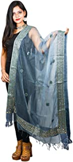 Decorative Organza Dupatta With Gotta Patti Work Scarf Chunni Stole Hijab For Her