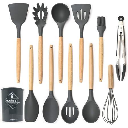8 Stücke Silikon Kochutensilien Set Küchenutensilien Kochlöffel Set Werkzeuge