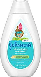 Johnson's Ultra-Hydrating Tear-Free Kids' Conditioner with Pro-Vitamin B5 & Proteins, Paraben-, Sulfate- & Dye-Free Formul...