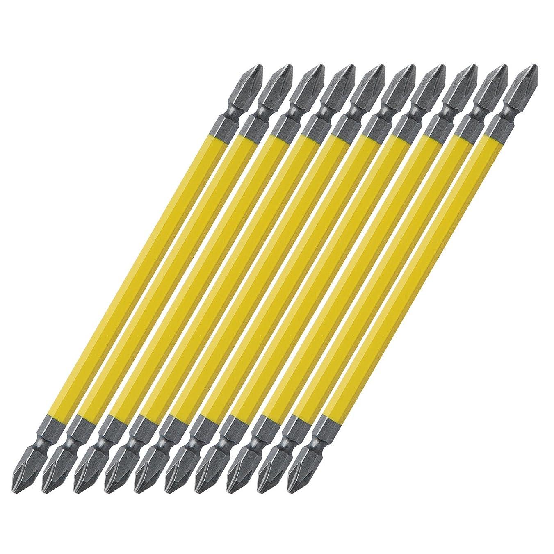 ぐったり音ハッピーアネックス(ANEX) カラービット 両頭 マグネット付 +2x150 10本袋入 AC-14M