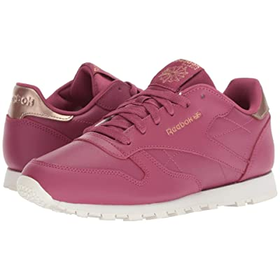 Reebok Kids Classic Leather (Big Kid) (Twisted Berry) Girls Shoes