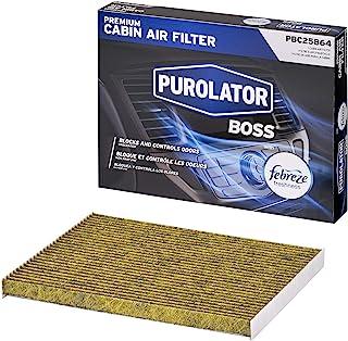 فلتر هواء كابينة ممتاز Purolator PBC25864 Purolator مع انتعاش فبريز