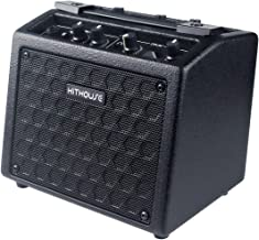 Kithouse B9 Electric Guitar Amp Mini Rechargeable Guitar Amplifier Portable Microphone Speaker with 18 Types Drum Beats, Microphone & AUX Input, Headset Output