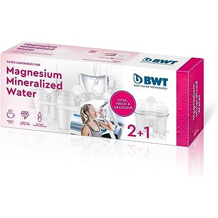 Cartouche filtrante, enrichie au magnésium, compatible Brita Maxtra, pack 2+1