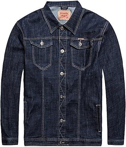 Fjubjv Les Hommes est décontracté Veste en Denim, Taille Accrue des Jeans et Veste de Jeans, perd Gros,Map Couleur,XL,