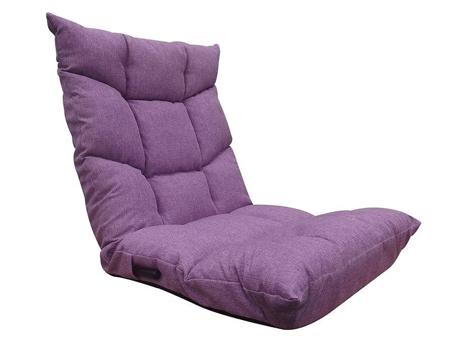 天才ドレインのれんネクスト(Next) 座椅子 ブラン 低反発ウレタン レバー式 14段階 リクライニング パープル