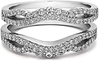 0.57 Ct. Double Infinity Wedding Ring Guard Enhancer in Sterling Silver with Diamonds (G,I2)