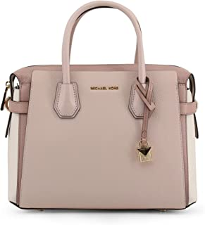 MICHAEL Michael Kors Mercer Belted Medium Satchel Soft Pink/Light Cream/Fawn One Size