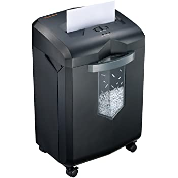 Bonsaii EverShred C149-C 18-Sheet Heavy Duty Cross-Cut Paper/CD/Credit Card Shredder 60 Minutes Running Time, 6 Gallon Pullout Basket and 4 Casters, Black