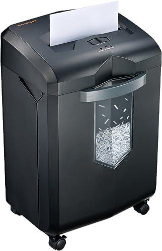 Bonsaii 18-Sheet Crosscut Paper Shredder, 60-Minutes Shredder for Home Office Heavy Duty EverShred with 6 Gallon Pull...