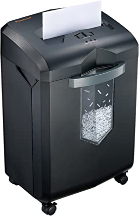 $154 Get Bonsaii EverShred C149-D 12-Sheet High-Security Micro-Cut Paper Shredder, 60 Minutes Running Time, 62 dB Low Operation Noise, Draw-Out 6 Gallon Basket with 4 Casters, Black