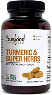 Sunfood Superfoods Turmeric & Super Herbs Capsules 90 Count