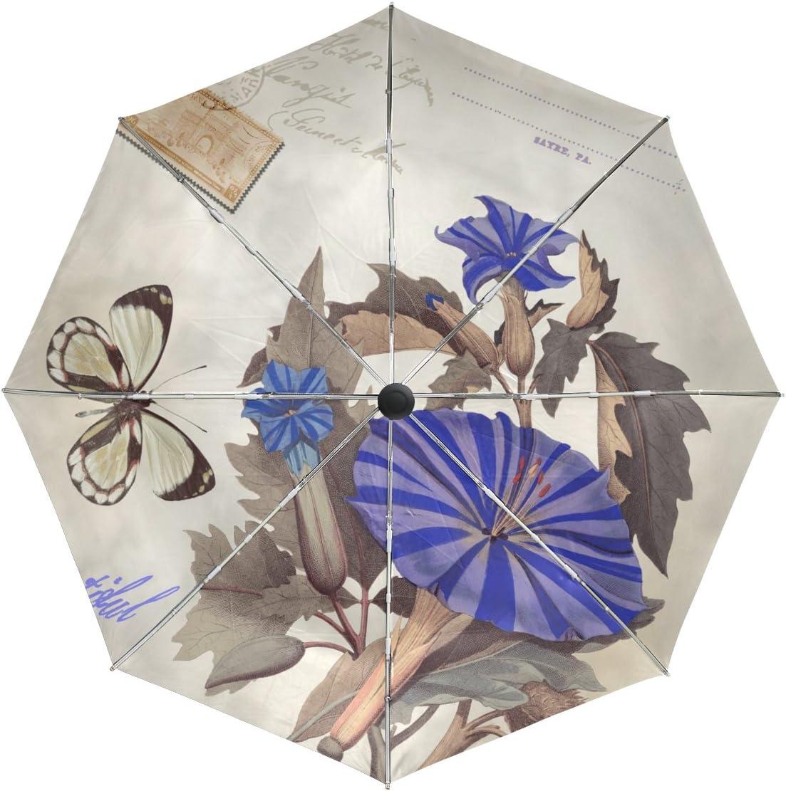 baihuishop Flower mart Butterfly Windproof Auto Sale price Umbrellas Open Close