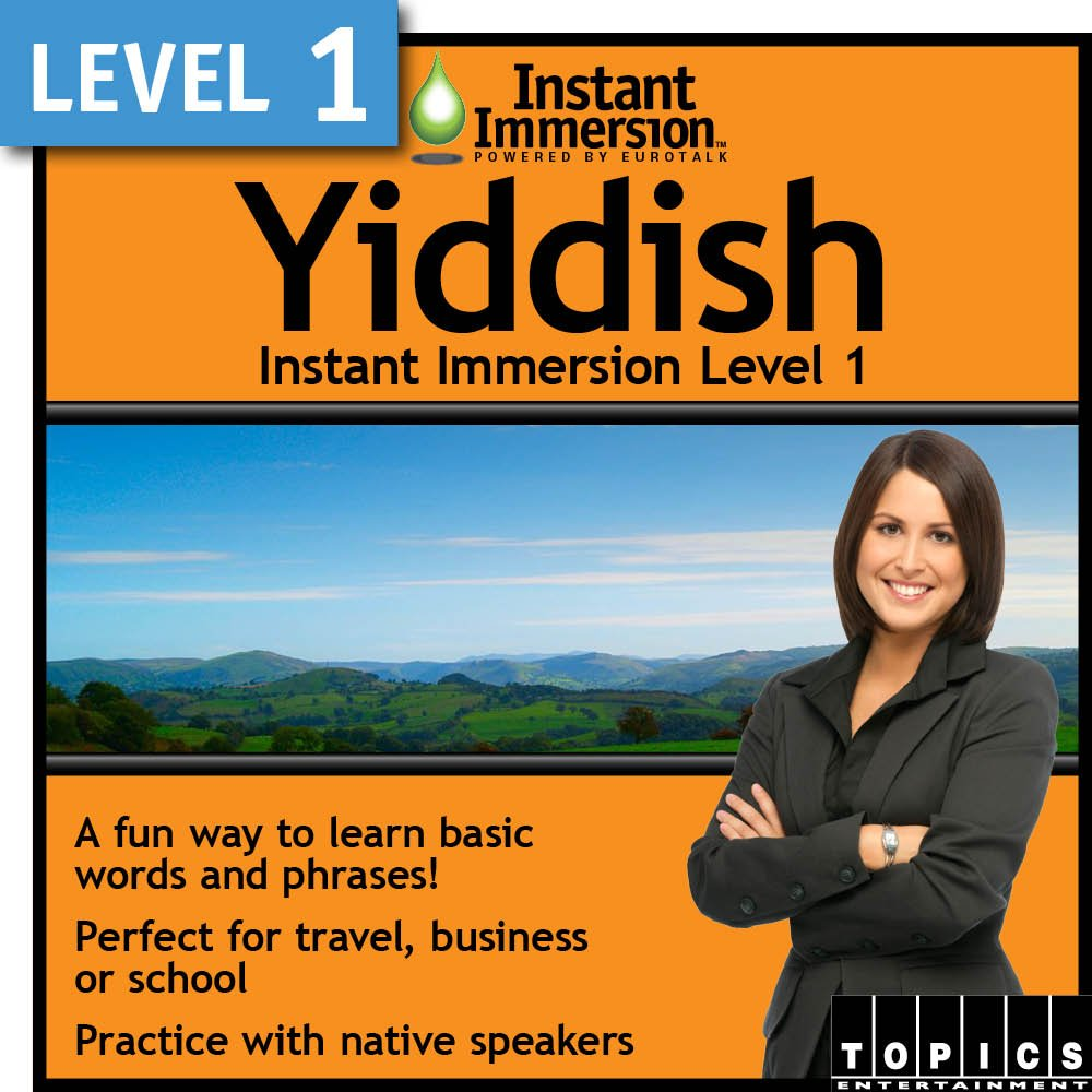 Instant Immersion Level 1 Yiddish Download Max 50% OFF Be super welcome -