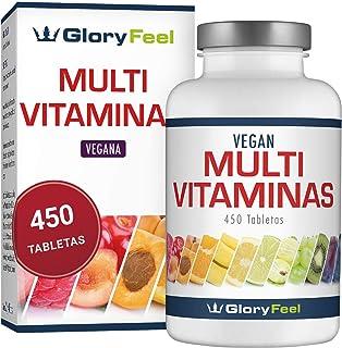 e3d9e8dce3555e Multivitaminas 450 Pastillas Veganas - Vitaminas y Minerales - Complejo  Multivitaminico para Hombres y Mujeres -
