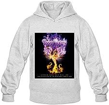 Soulya Men's Phoenix Rising Deep Purple Geek Hoodies Sweatshirt Size US Black