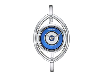 Tory Burch Evil Eye Bangle Watch (Silver TBW5003) Watches