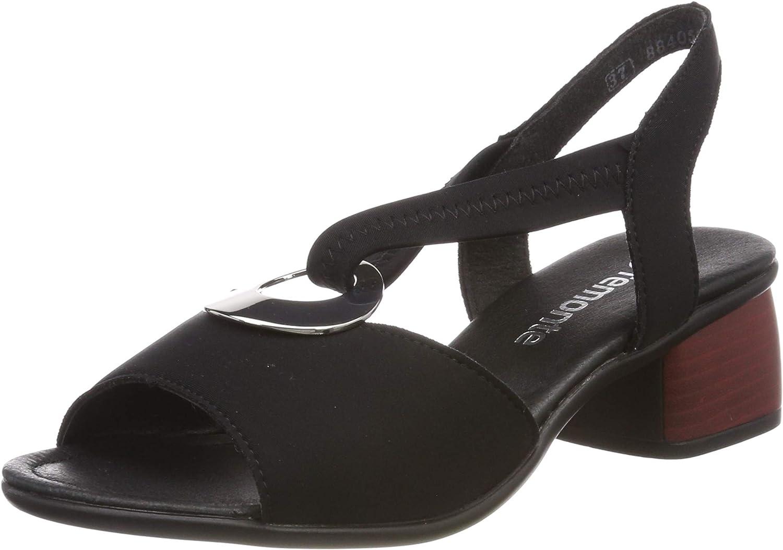 Remonte Damen-Sandalette - F 1 2 black (1)
