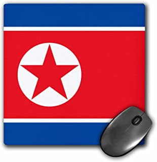 3dRose 8 x 8 x 0.25 Inches Mouse Pad, Flag of North Korea - Korean Blue Red White Star Democratic Peoples Republic of Korea DPRK World Asia (mp_158398_1)
