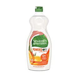 Seventh Generation Dish Liquid Soap, Clementine Zest & Lemongrass Scent, 25 oz (Packaging May Vary)