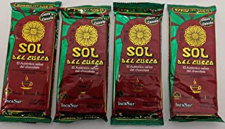 Sol De Cusco Chocolate Con Clavo Y Canela / Chocolate with Cloves & Cinnamon 90gr 4 Pack
