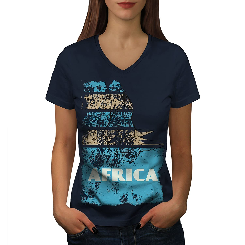 Wellcoda ジャングル 砂漠 クール アフリカ 婦人向け S-2XL リンガーTシャツ