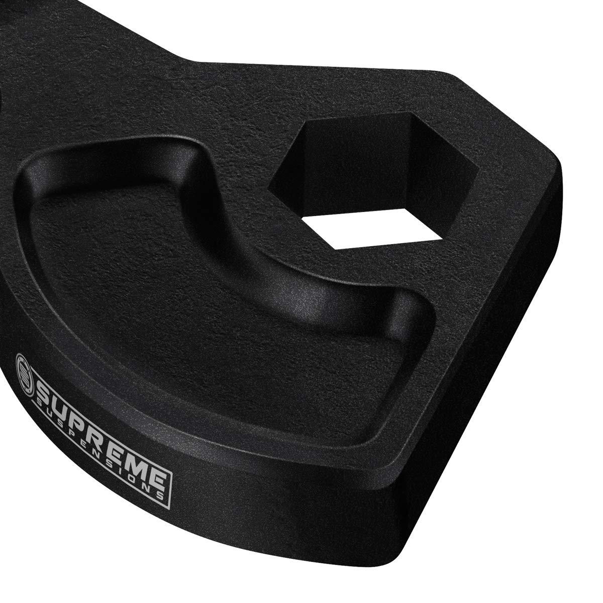 "Supreme Suspensions - Front Leveling Kit for Dodge Durango Adjustable 1"" to 3"" Front Lift Carbon Steel MAX-Torsion Dodge Durango Leveling Lift Kit 4WD 4x4 (Black) PRO"