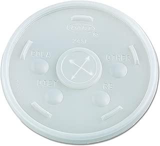Dart 24SL05 Plastic Cold Cup Lids, 24oz, Translucent (Case of 500)