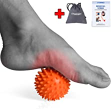 Massage Ball Spiky Foot Massager Back Muscle Roller All Body Deep Tissue Trigger Point Therapeutic Massaging Exercise Roller Yoga Balls Physical Therapy Equipment Includes Free Tutorial and Holder Bag