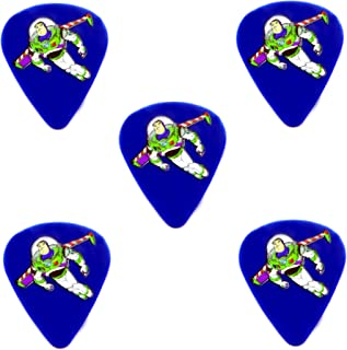 Buzz Lightyear Cool Guitar Picks Acoustic Electric Guitar and Bass Guitar Player's Pack Soft Matte Finish Medium 0.80MM GP-009 (12 Pack)