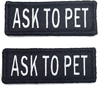 Ask To Pet Velcro Patch