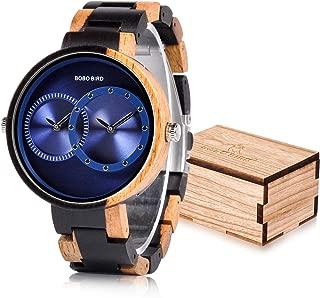 R10 Men's Women's 2 Time Zone Wooden Watches Lightweight Luxury Quartz Wristwatches Fashion Design Timepiece for Love