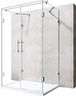 Sogood Cabine de douche pare douche 90x100x190 design Ravenna04K avec receveur de douche verre de s/écurit/é ESG 8mm transparent avec rev/êtement nano