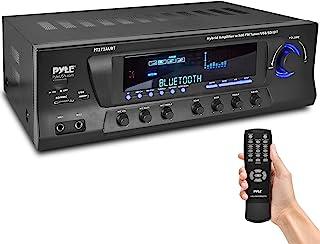 Wireless Bluetooth Audio Power Amplifier - 300W 4 Channel Home Theater Stereo Receiver w/ USB, AM FM, 2 Mic IN w/ Echo, RC...