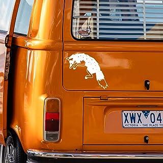 Fox Fuchs Autoaufkleber Aufkleber Decal für Auto LKW Camper Wohnmobil und für alle glatten Oberflächen. Auto, Wände, Fenster, Tür UVM