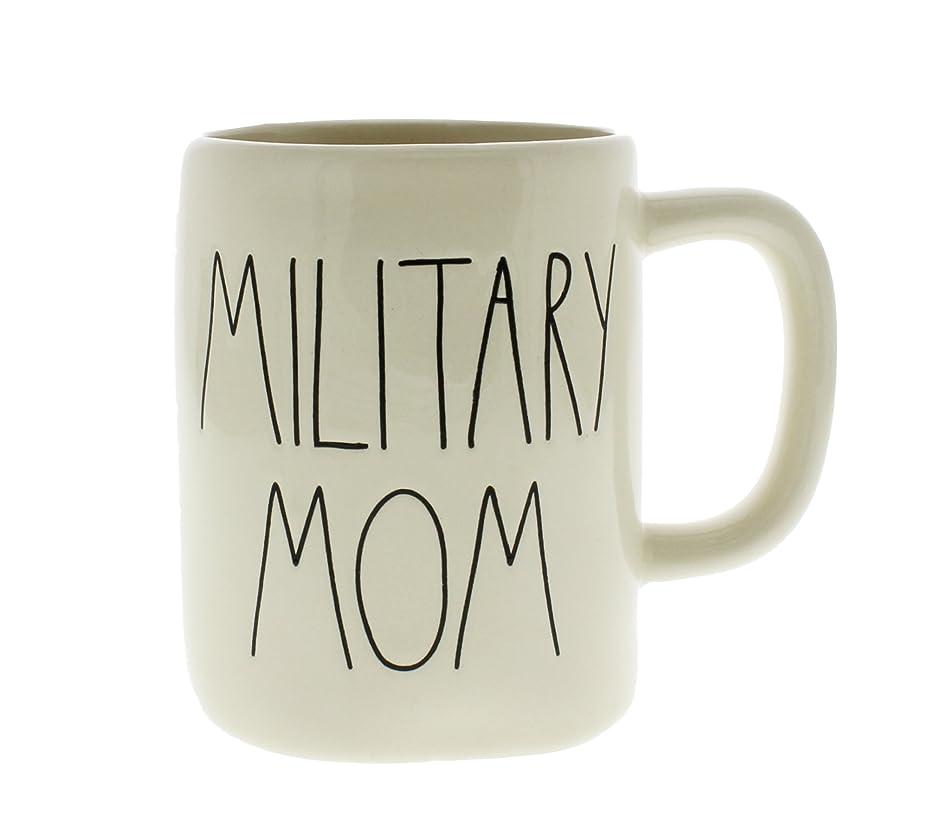 どっちメイドワイヤーRae Dunn byマゼンタMilitary MomセラミックLLコーヒーマグ