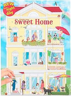 Depesche-DP-0011415 Libro para Colorear Create Your Sweet Home, Aprox. 30 x 22 x 0,5 cm, con 24 páginas ilustradas de Colo...