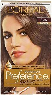 L'Oreal Superior Preference - 6 Light Brown (Natural) 1 Each (Pack of 3)