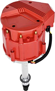 A-Team Performance Marine Electronic Distributor Compatible with Chevy V8 Mercruiser OMC Volvo Pleasurecraft ChrisCraft Crusader Yanmar SBC BBC 283 302 305 307 327 350 383 396 400 427 454 Red Cap