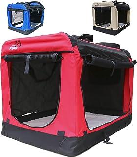 Hundetransportbox faltbar Transportbox für Hunde Hundebox Auto - Dogi Kennel - 6 Größen - 3 Farben (S (50 x 35 x 35 cm), Rot)