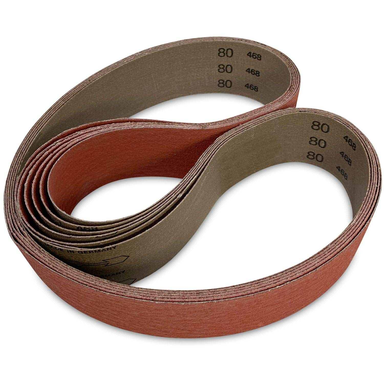 Red Label Abrasives 2 X 48 Inch 80 Grit Metal Grinding Ceramic Sanding Belts Extra Long Life 6 Pack Amazon Com