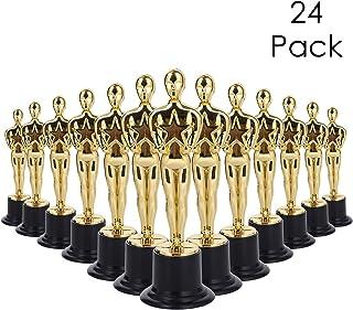 Lawei 24 unidades de trofeos de premio de oro – 6 pulgadas estilo Oscar Trofeos, ceremonia de premio, fiesta