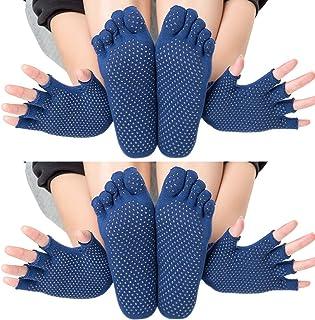 KINDOYO Yoga Socks - Non-Slip Five Toe Socks for Pilates Ballet Dance Workout Fitness
