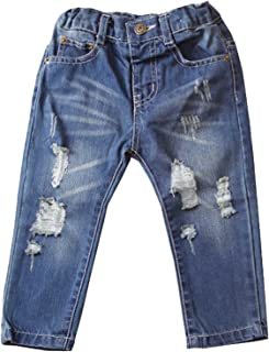 Betusline Baby Boys Broken Holes Ripped Jeans Denim Pants