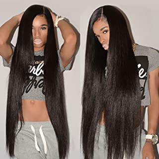 CYNOSURE Brazilian Straight Hair 3 Bundles Grade 8a Unprocessed Straight Human Hair Extensions Natural Black (22 24 26inches)