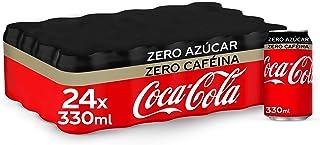 Coca-Cola Zero Azúcar Zero Cafeína Lata - 330 ml (Pack de 24)
